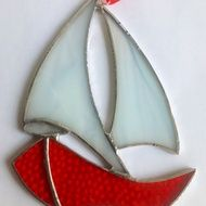 Handmade stained and fused glass keepsakes and ... by Coquet Glass Studio on Folksy
