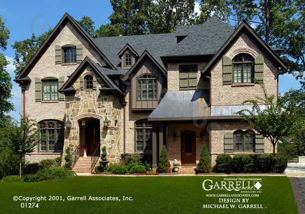 Front Elevation French : Garrell associates inc lanier b house plan front
