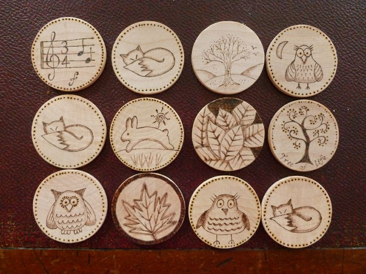 Sorry I like to read about what people do not have to follow them to Facebook to find out. Nice set of wooden disks, you could make a set of these as a memory game. I like the sleepy fox with his bushy tail best of all. Bit primitive perhaps but fun ;)
