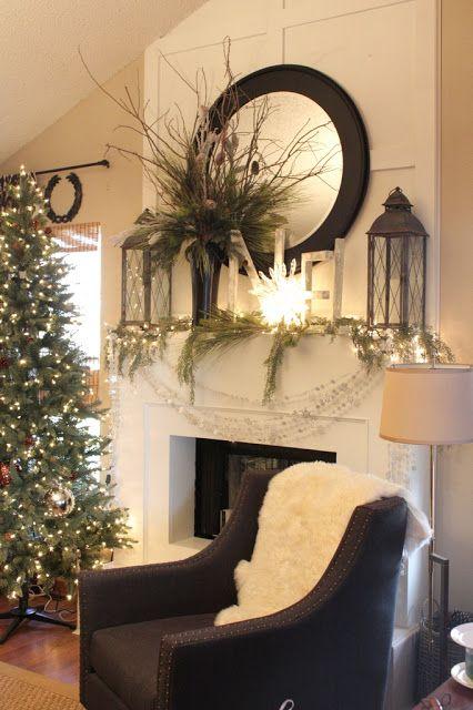 Mantel Decorating Ideas best 25+ christmas mantel decor ideas on pinterest | christmas