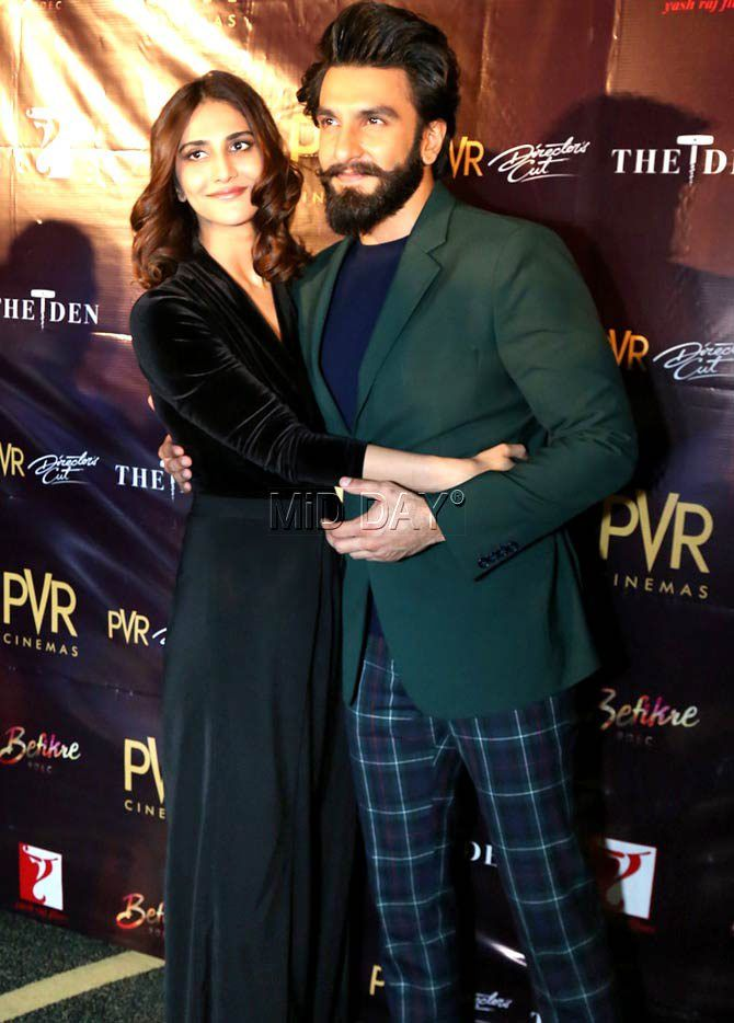 Ranveer Singh and Vaani Kapoor at multiplex in New Delhi for a promo event of #Befikre in Mumbai. #Bollywood #Fashion #Style #Beauty #Hot #Sexy