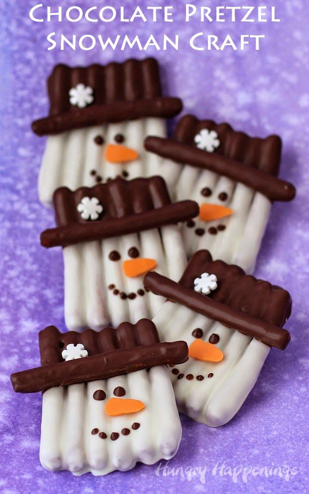 Hungry Happenings: Chocolate Pretzel Snowman Craft