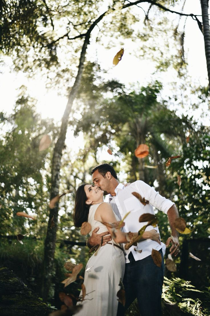 Ensaio de casal - Campinas - folhas de outono