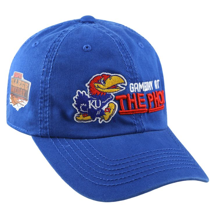Kansas Jayhawks ESPN College Game Day Basketball TOW Crew Adjust Hat Cap
