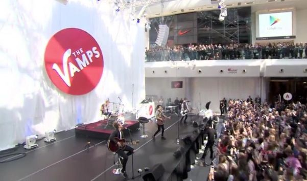 The Vamps performing in Westfield