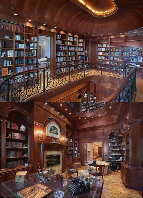 Amazing Home Libraries: 47 Lovely Library Room Design