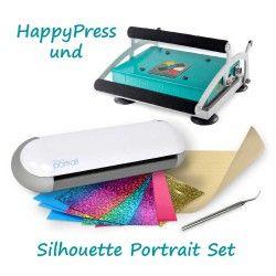 Textildruck Komplettset HappyPress und Silhouette Portrait