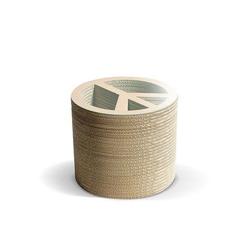 PACE A - Carton Factory Designer: Carton Factory Misure: 46 X 46 X 40h  Tavolo basso in cartone con piano superiore in vetro.   #cartonfactory #ecodesign #cardboard #design #tavolo #cartone