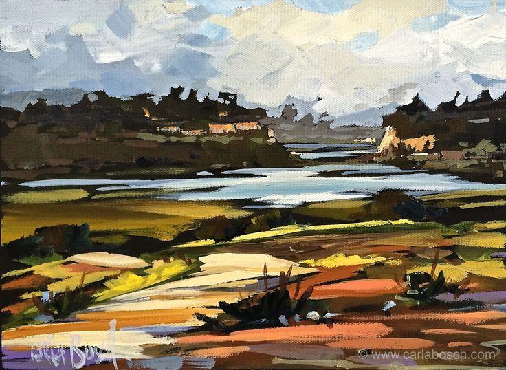 """Back Bay, Newport Coast by Carla Bosch 9"""" x 12"""" www.carlabosch.com"""
