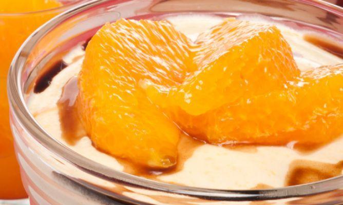 Receta de Mousse de naranja roja