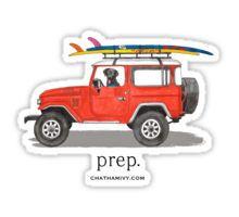 preppy car Sticker