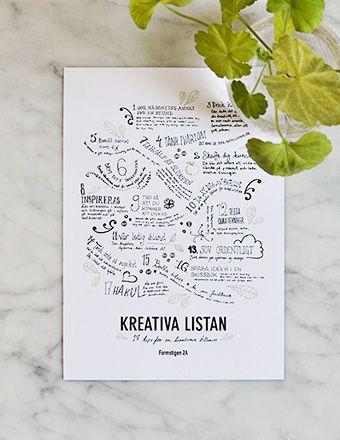 Kreativa listan vykort