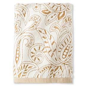 Threshold Paisley Bath Towel Real Pecan Sour Cream