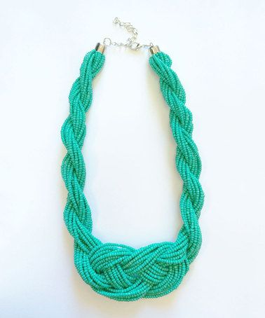 Another great find on #zulily! Turquoise Beaded Twist Rope Necklace #zulilyfinds
