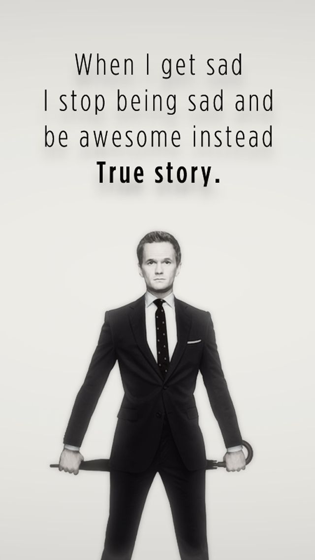 When I Get Sad I Stop Being Sad And Be Awesome Instead - mobile9 #iPhone5 wallpaper. Download here >> http://m9.my/go/p15