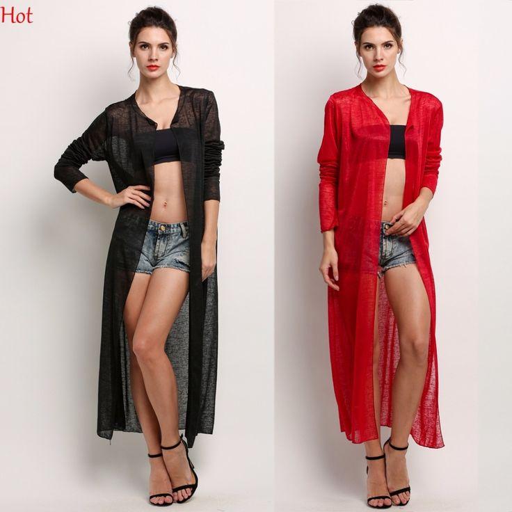 2017 New Sheer Cardigan Women Loose Long Blouses Shirt Summer Style Beach Sun Shirts Ladies Clothing Long Sleeve Blusas SV025734