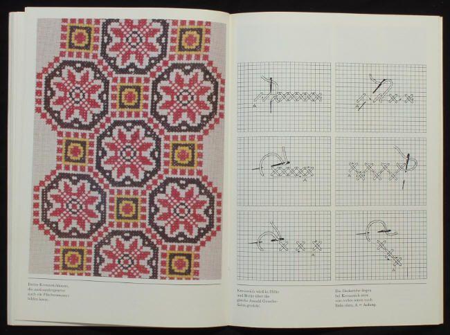 BOOK Slovak Embroidery Patterns traditional folk art tablecloth design