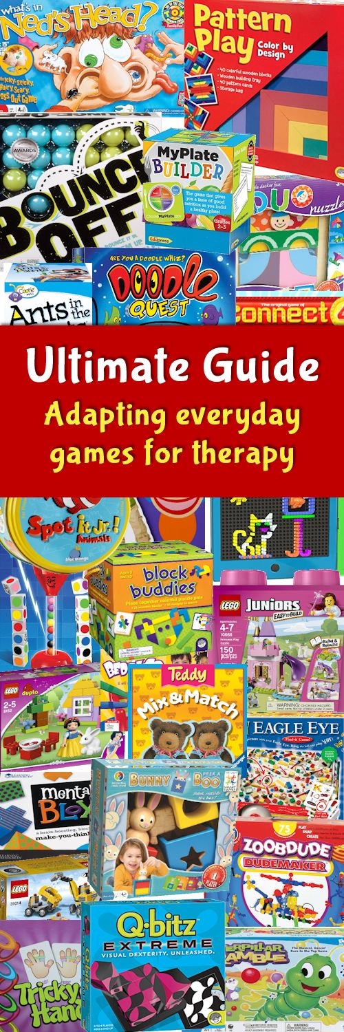 100's of goal-directed ideas for using common games therapeutically. Check it out at The Playful Otter.