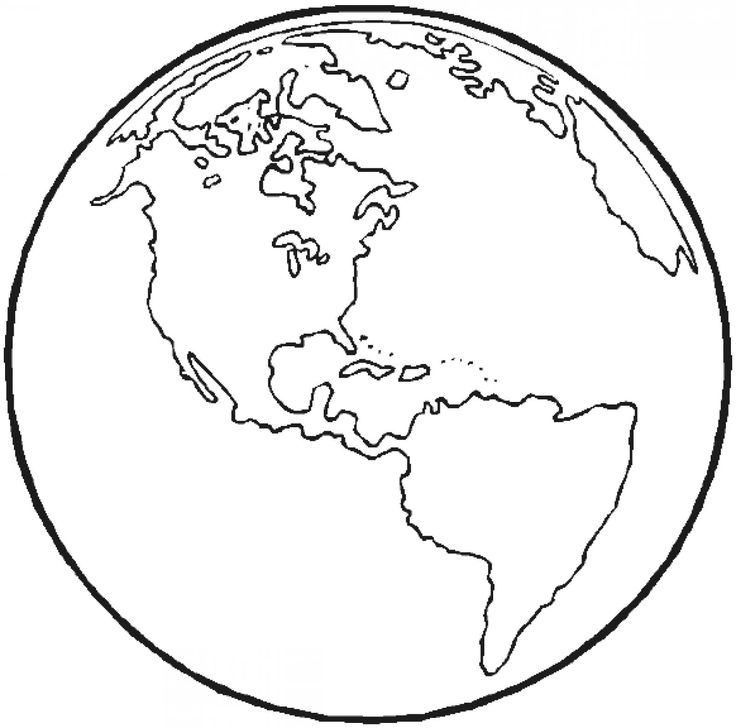 The Earth Coloring Page