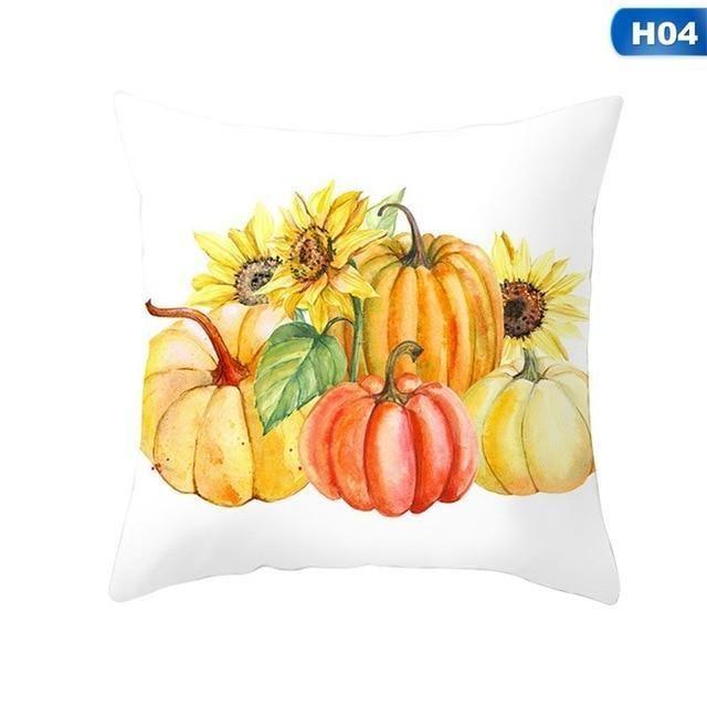 Fall Halloween Pumpkin Pillow Case