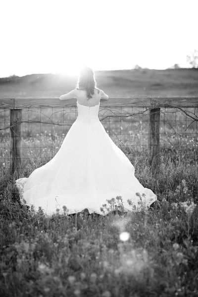 a bride and her dress
