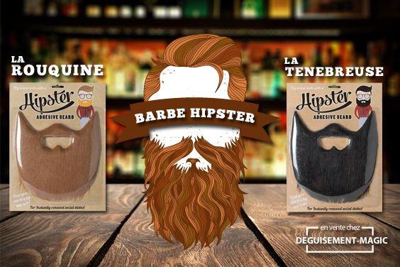 Fausse barbe de Hipster #hipster #barbe existe en rousse et en noire