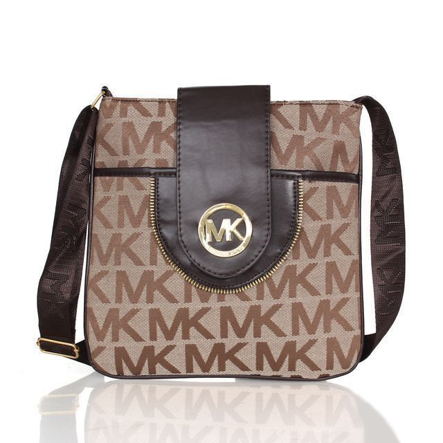 $65.99 Newest Michael Kors Fulton Logo Signature Large Khaki Crossbody Bags have Arrived!