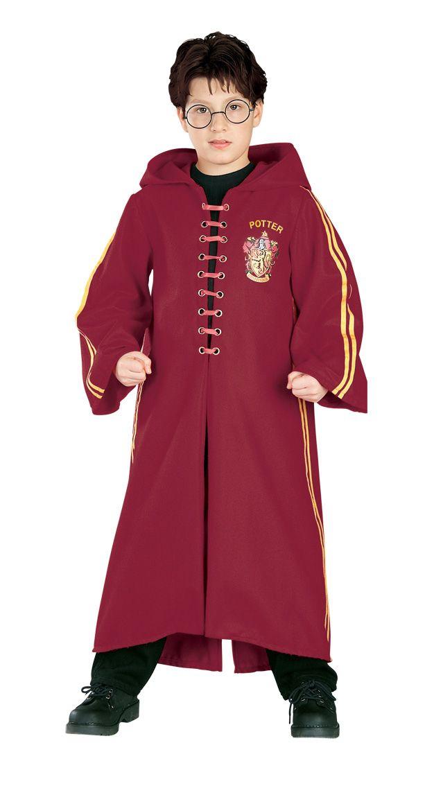 Disfraz de Quidditch de Harry Potter™ de lujo para niño: Este disfraz oficial de Quidditch de Harry Potter™ se compone de una túnica idéntica a la del famoso mago de Hogwarts. Se abrocha por delante con un lazo. Lleva el número 7 y el apellido...