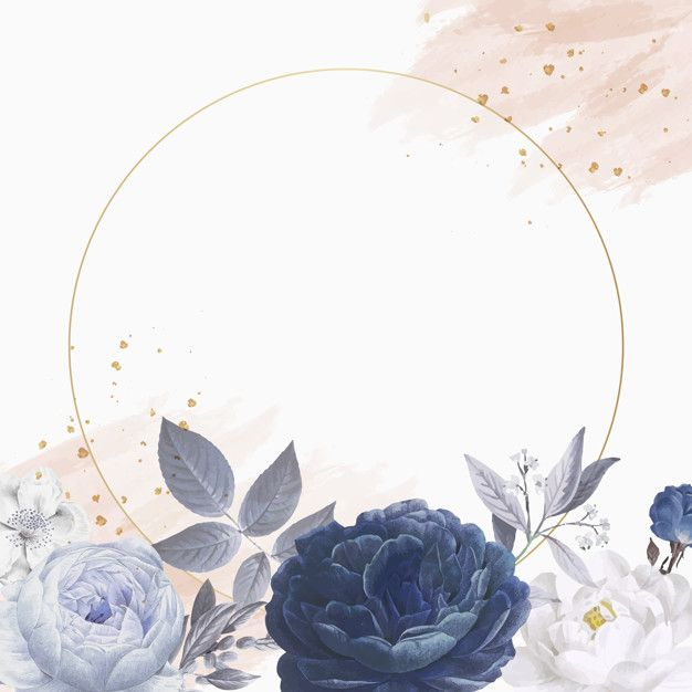 Download Floral Themed Circle Frame For Free In 2020 Free