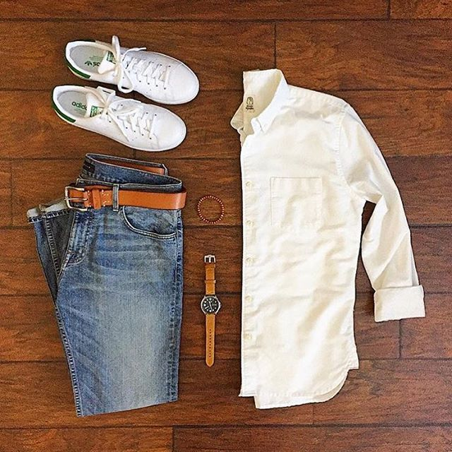 White shoes and white shirt, classic  Follow for more: @votrends  Outfit by: @chrismehan