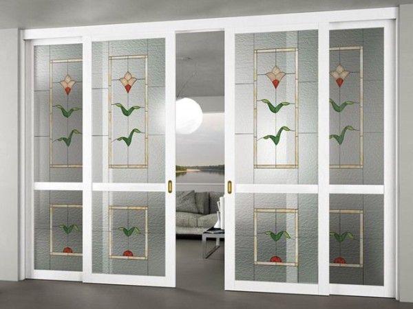 puertas correderas madera vidrio inspiracin de diseo de interiores