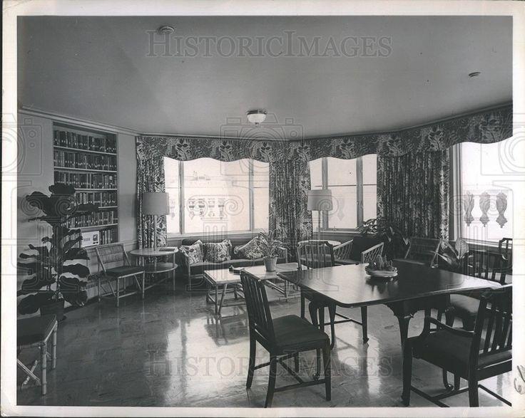 1952 Press Photo Solarium on Top Floor of White House