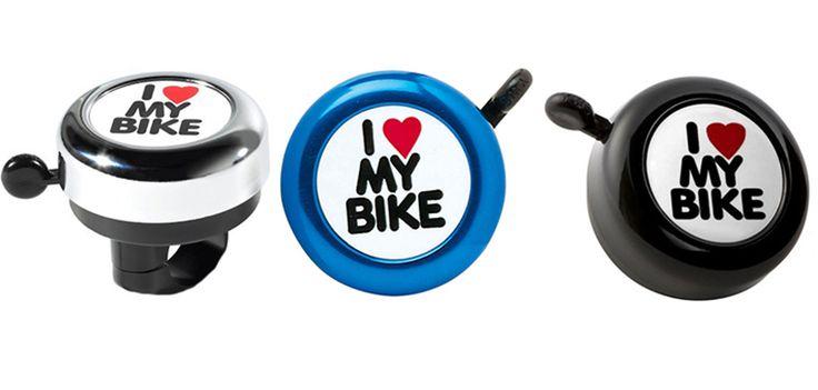 Campanillas indispensables a la hora de pedalear.  http://www.tuttematute.cl/campanilla-bicicleta-i-love-my-bike