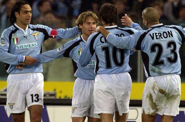SS Lazio, 'Laziale' players : Alessandro Nesta, Pavel Nedved, #10 Hernan Crespo, Juan Sebastian Veron