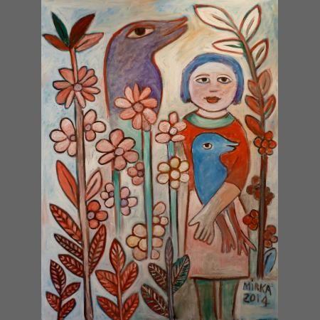 Mirka Mora, Summer flowers, 2015. Oil on canvas http://www.moragalleries.com.au/mirka/mirka_mora-summer_flowers.html