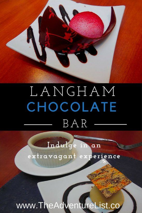 The one naughty thing you must do when in Boston - Indulge in Chocolate Bar at Langham Hotel