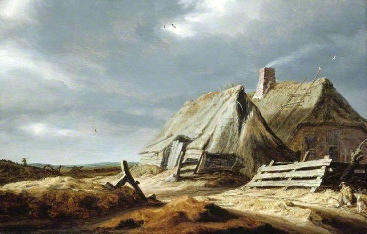 Farm Buildings in a Landscape by Salomon van Ruysdael    Date painted: 1625–1628?