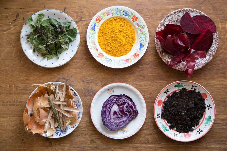 Přírodní barvení vajíček