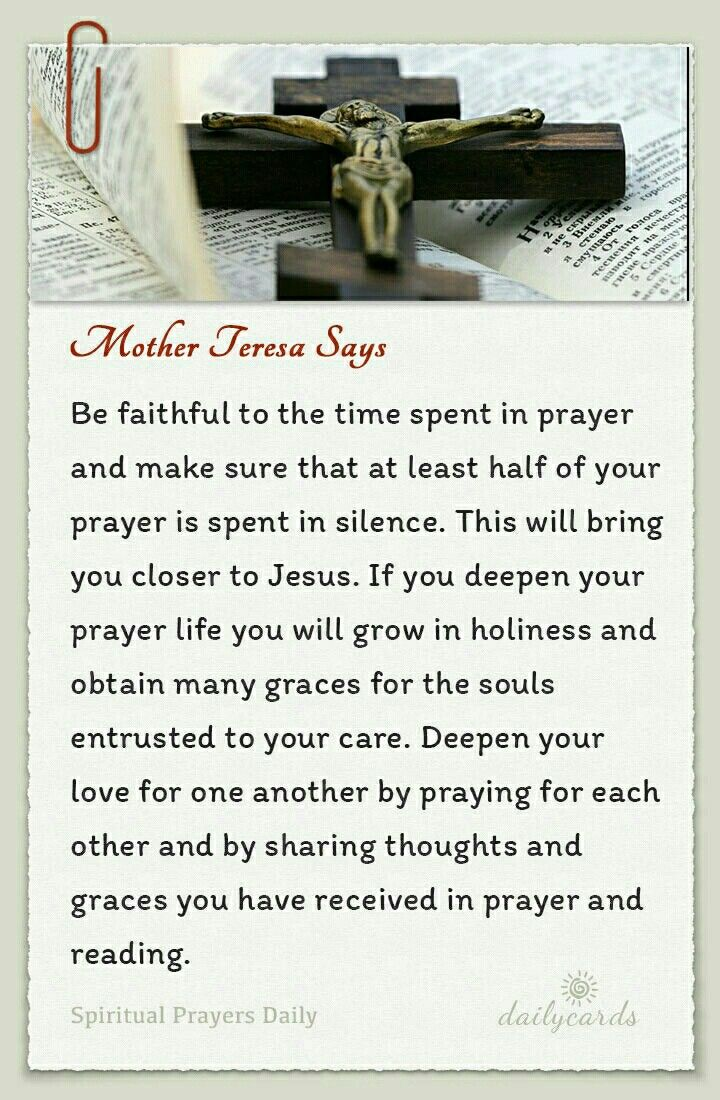 best ideas about mother teresa prayer mother at least half o you prayer spent in silence definitely advice