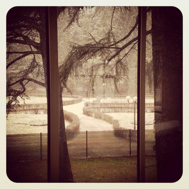 The Big snow 05/02/2015  Terme di Boario Valle Camonica Brescia Italy