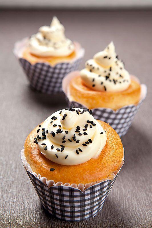 cupcake de queijo e presunto