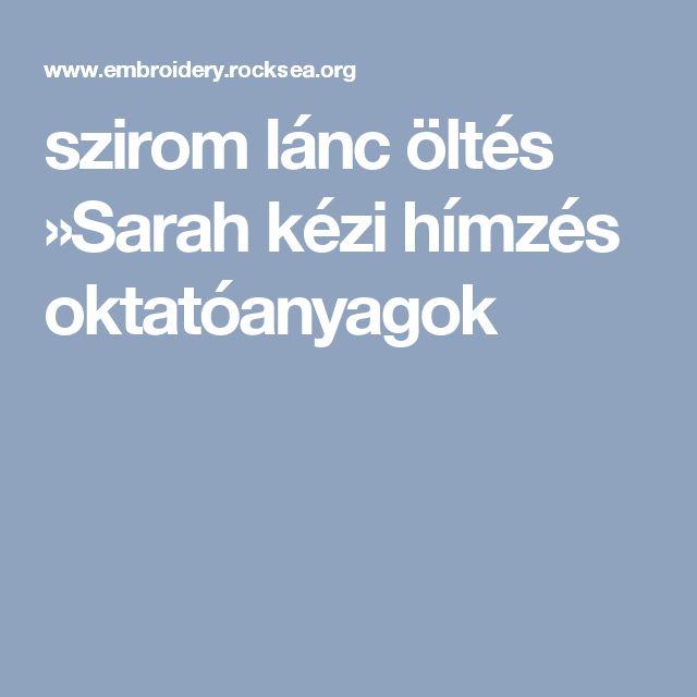 szirom lánc öltés »Sarah kézi hímzés oktatóanyagok
