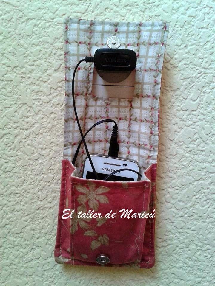 El taller de Maricú: Tutorial Porta Cargador de móvil.