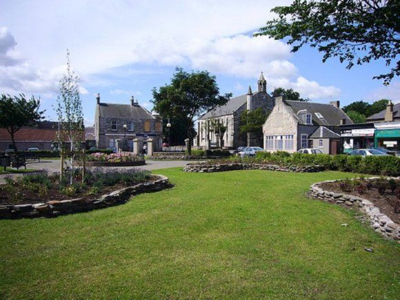 The gardens where the old school was once situated on College Street, Buckhaven, Fife, Scotland.