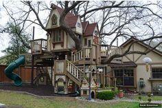 Una casa de árbol súper-agrandada