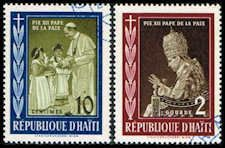 Haiti 444 // 446 Stamps Pope Pius XII and Children Stamps C HAT 444//446-1 CTO