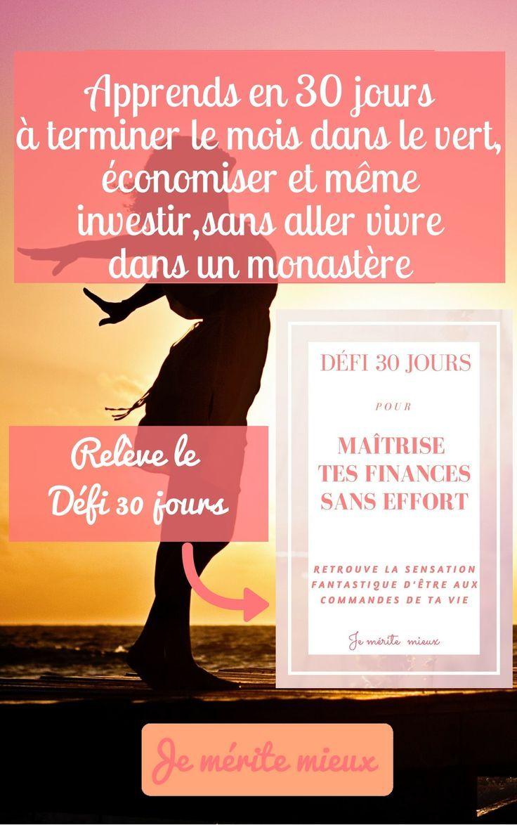 Apprends en 30 jours, comment maîtriser tes finances sans effort #jemeritemieux #argent #financespersonnelles #économies #épargne