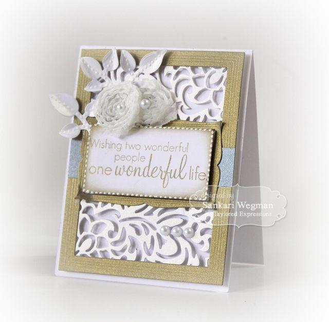 Wonderful Life Card By Sankari Wegman Cardmaking Wedding Cuttingplates