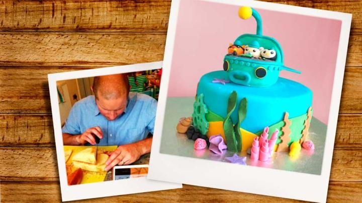Octonaughts-themed birthday cake from Great British Bake Off finalist, Richard Burr.
