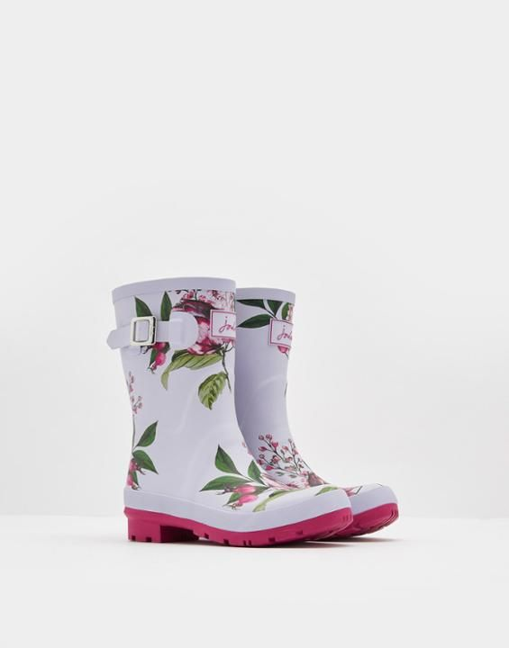 Joules Molly Women's Mid-Height Printed Rain Boots